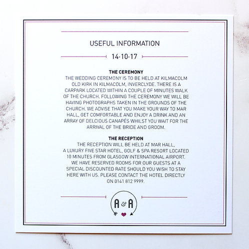 It's All About You - Information Card