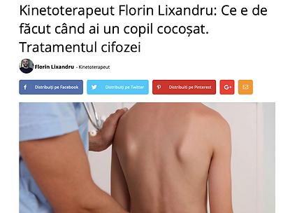kinetoterapeut Florin Lixandru