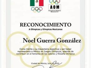 Comité Olímpico Mexicano reconoce también a la trayectoria de nuestro compañero Noel Guerra!!