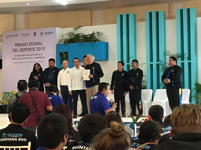Premio estatal del deporte en Fomento Deportivo Vela 2019 de Quintana Roo.