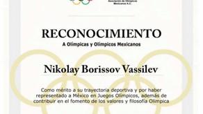 Comité Olímpico Mexicano reconoce la gran trayectoria de nuestro Director Técnico Nikolay Borissov