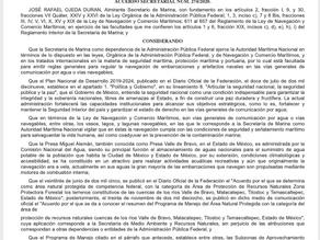 Nuevas Reglas Generales para la navegación en la presa de Valle de Bravo.