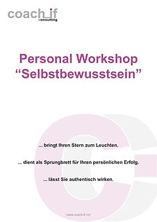 Personal Workshop - Selbstbewusstsein _
