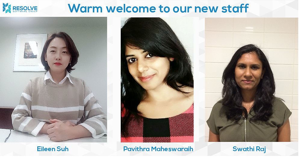 Warm welcome to our new staff - Eileen, Pavi, Swathi