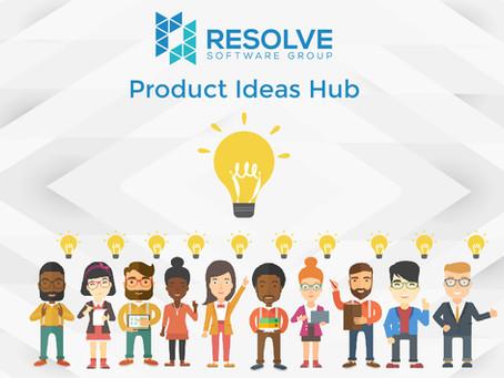 Resolve Product Ideas Hub