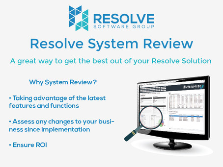 Resolve System Review – a great way to get the best out of your Resolve Solution
