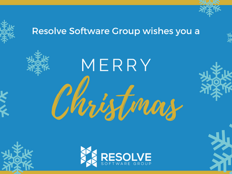 Resolve Software Group wishes you a Merry Christmas and a Happy New Year!