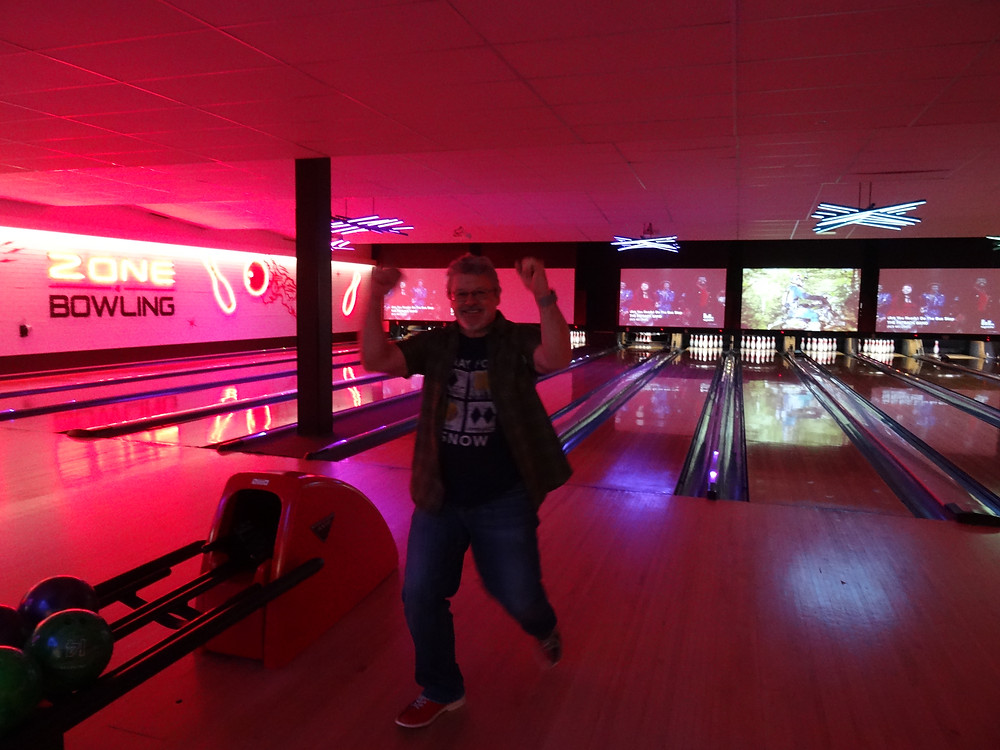 Our happy staff member at Bowling venue
