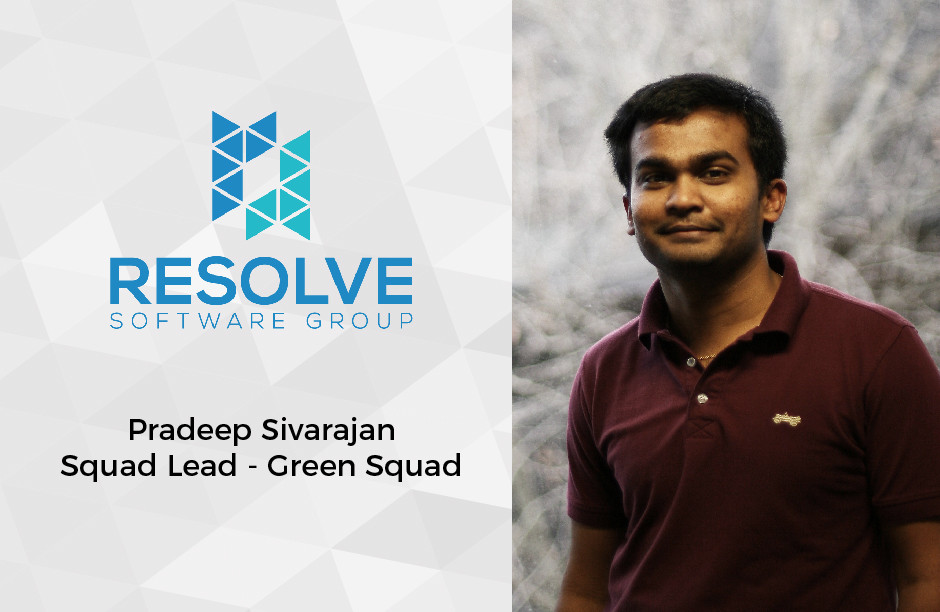 Pradeep Sivarajan - Squad Lead for Green Squad