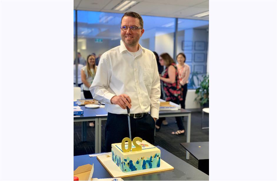 Rohan with Cake
