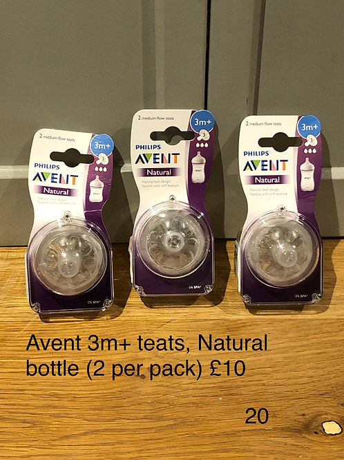 Avent Natural Bottle Teats 3+