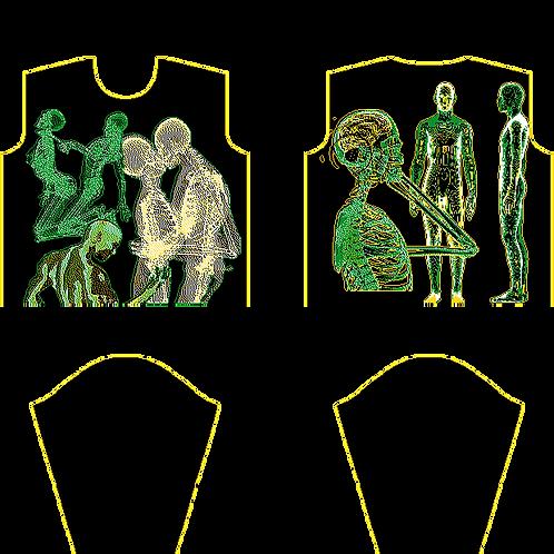 Skeletal Seduction Heavy Knit Sweater