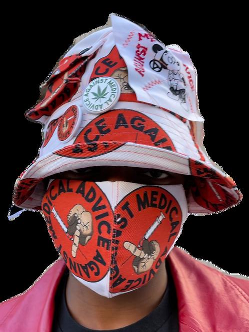 AMA Patch Head Bucket Hat Set