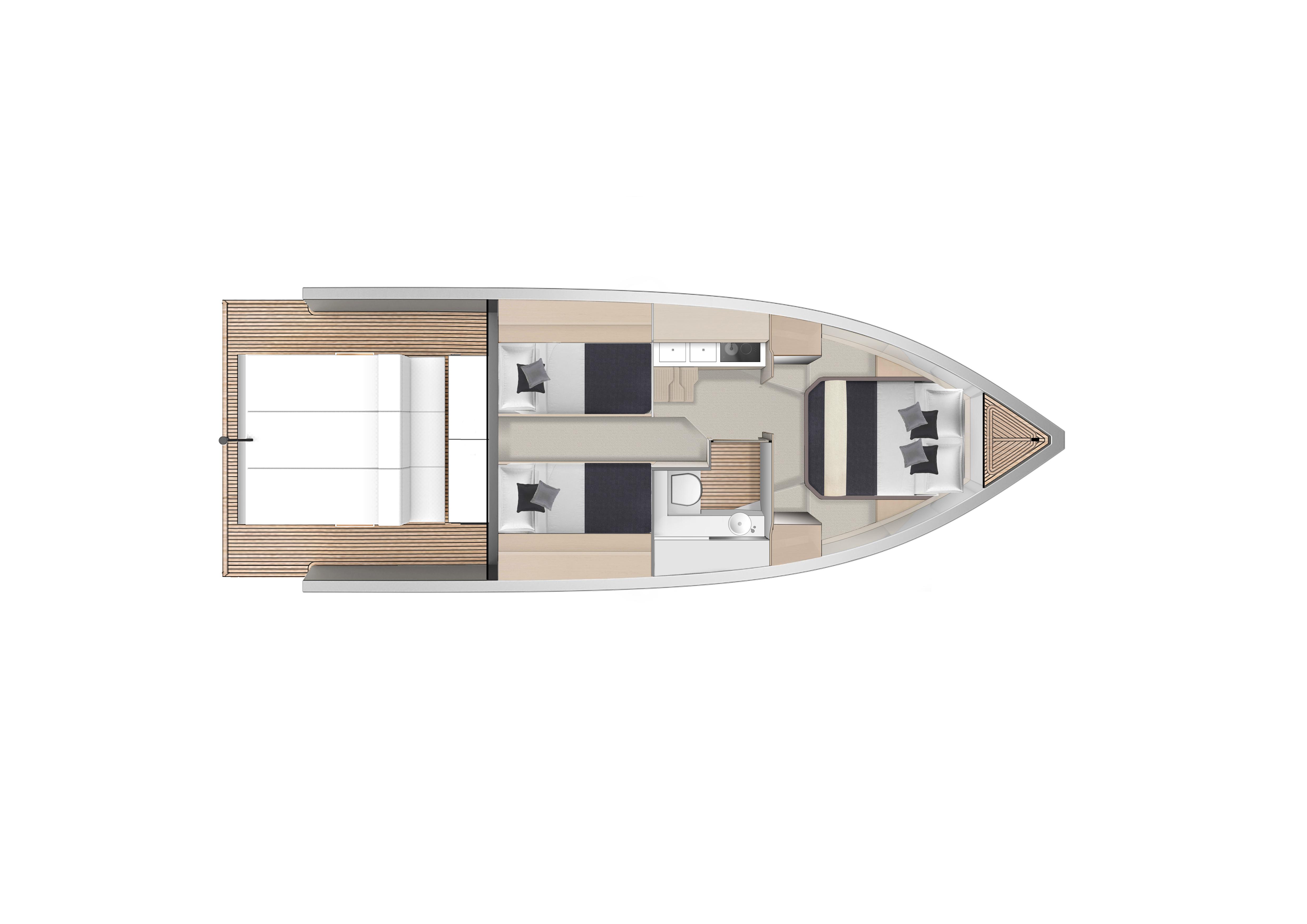 De Antonio Yachts_D33 Cruiser_Planta_02