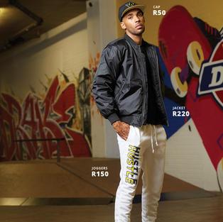 Jacket R220 | Joggers R150 | Cap R50