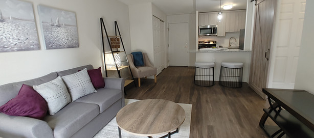 Signature Series One Bedroom Living Space