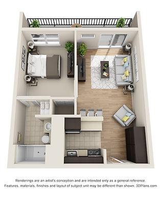 Center Square Apartments_One Bedroom (Premier)-3.jpg