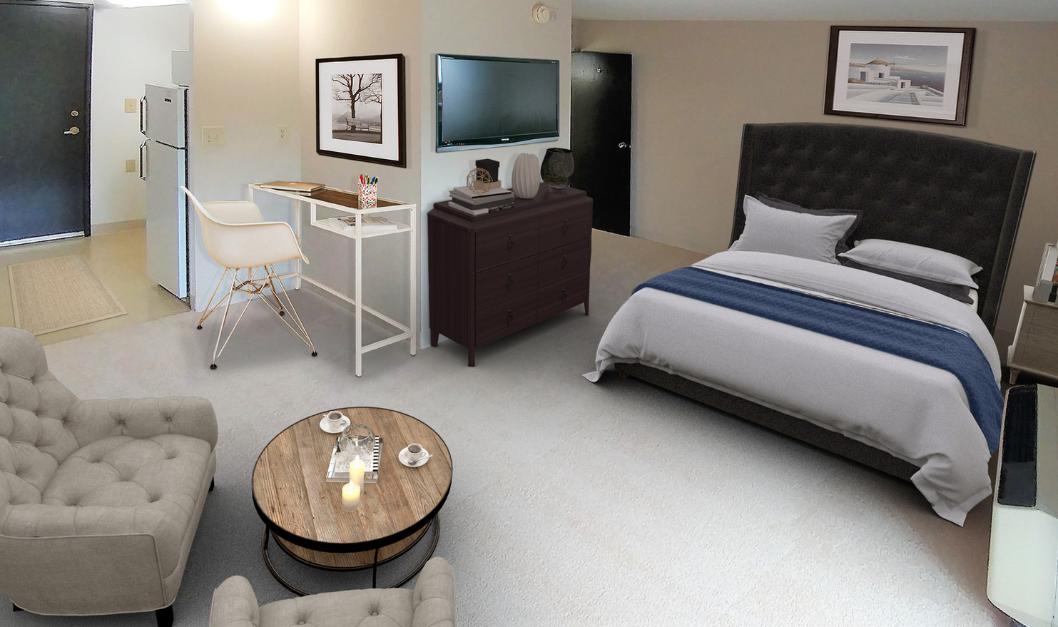 Studio Apartment - Virtually Staged