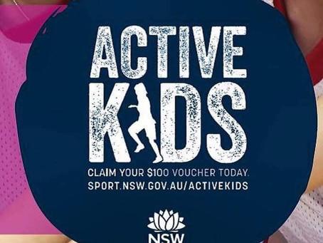 Get your 2019 Active Kids Voucher