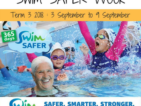 Come and join us for Swim SAFER Week - Term 3 2018