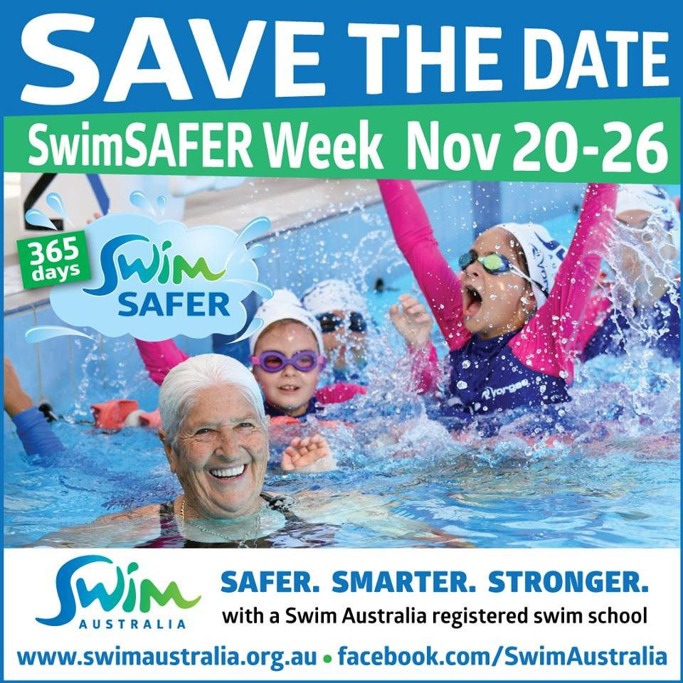 swim australia - save the date swimSAFER week