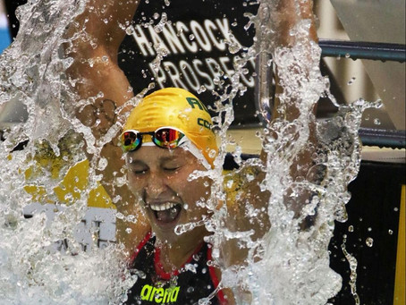 How many international GOLD medals has our Golden Girl Taylor Corry won in her swimming career?
