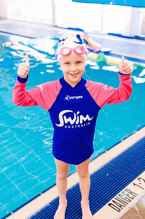 swim australia happy swimmer