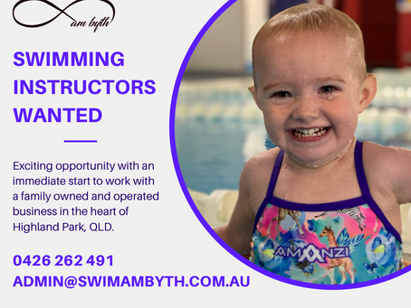 Swimming Instructors Wanted