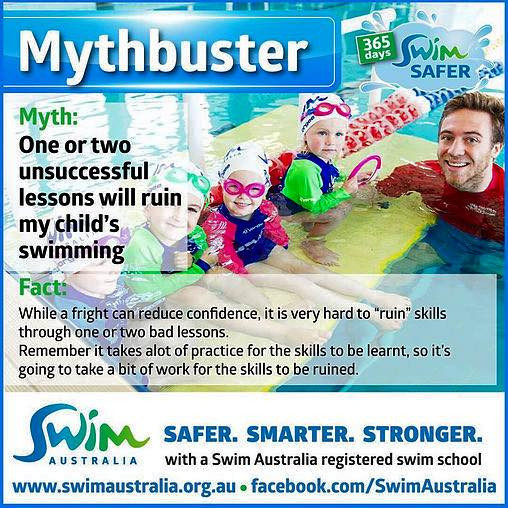 Mythbuster - One or two unsuccessful lessons will ruin my child's swimming