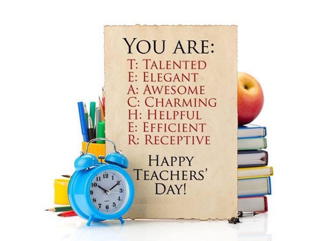Happy WORLD TEACHERS DAY!