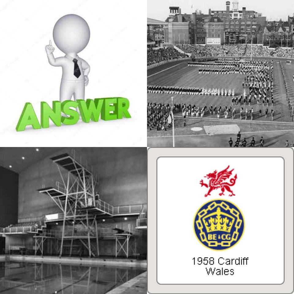 1958 Cardiff Wales Empire Pool & Games