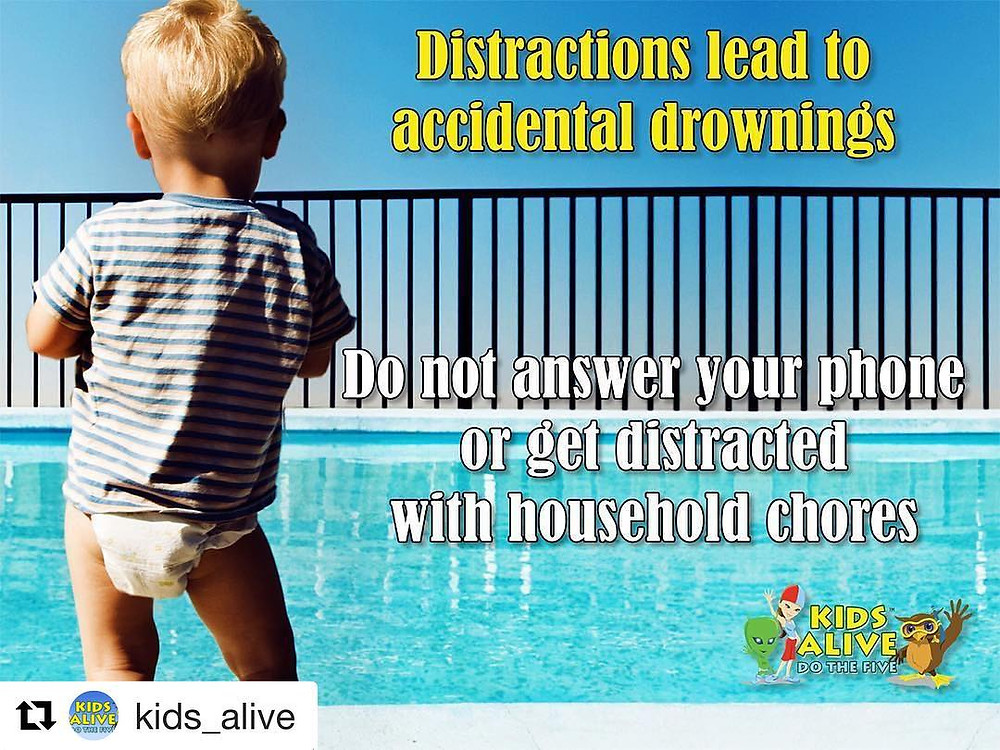 Distractions lead to accidental drownings