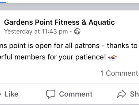 Swim am byth - Gardens Point: Reopen