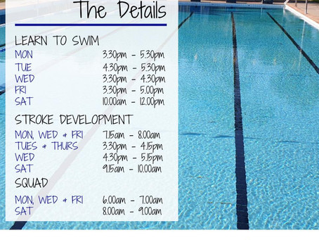 Swim am byth - Mooloolah: Term 1 2020 Details