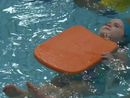 What will our little swimmers be working on in their lessons this morning?