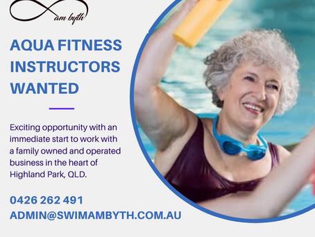 Aqua Fitness Instructors Wanted