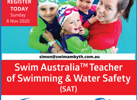 Swim Australia Teacher of Swimming & Water Safety Course (8 November 2020)