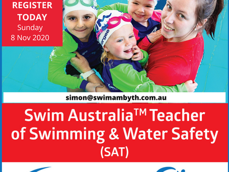 Swim Australia Teacher of Swimming & Water Safety Course (8 November 2020)