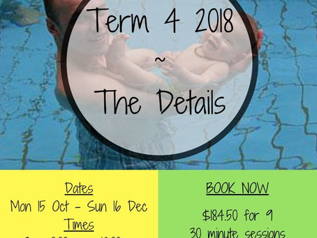 Come and join us for Term 4 2018!