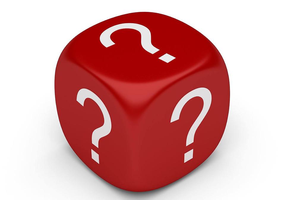 question mark dice