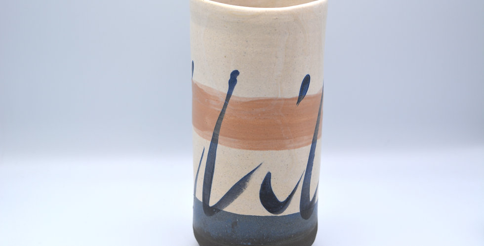 Decorated Straight Vase