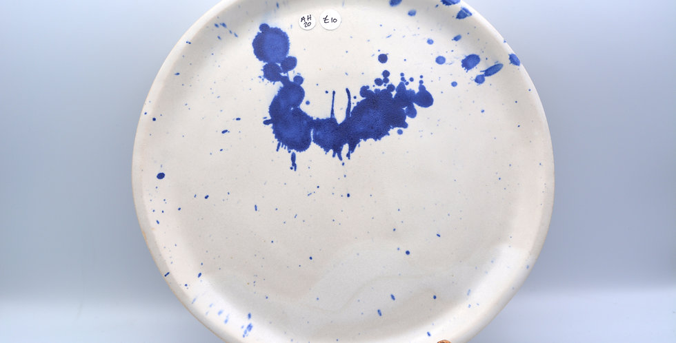 Cobalt Splatter Plate 3