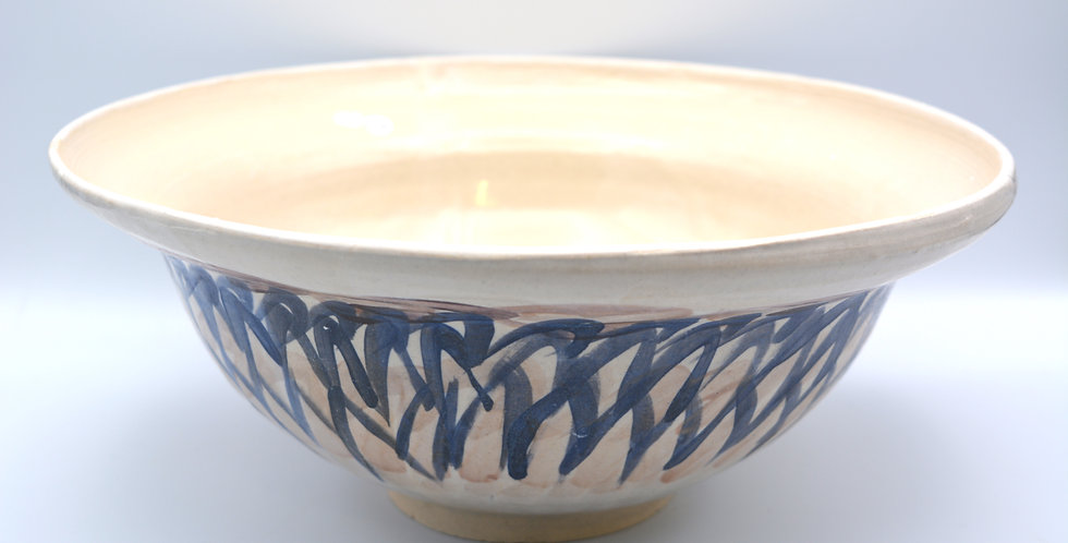 Decorated large bowl