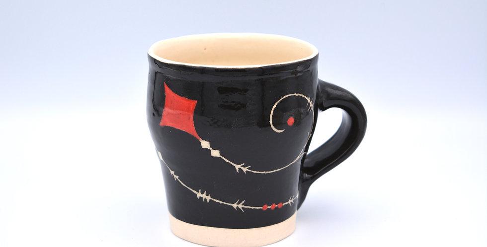 Black Patterned Mug