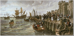 Pilgrim Fathers departure of Mayflower from Southampton