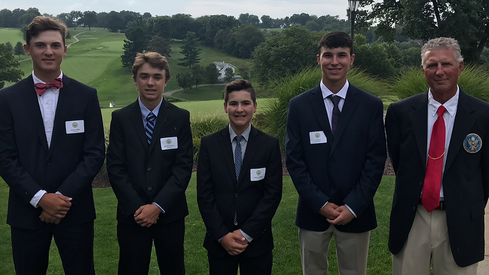 Pictured from left to right: Shawn Colella, Johnny Gruninger, Anthony Maglisco, Ian Rivers, SDGA President Todd Dischinger