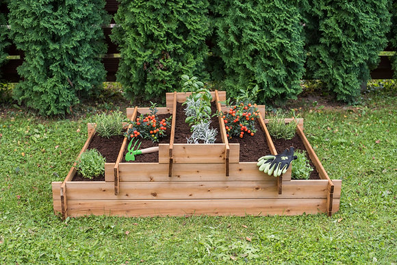 Tiered Five Section Raised Bed