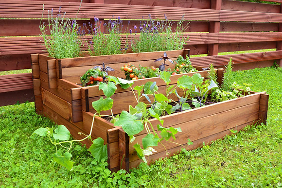 Tiered Three Section Raised Bed