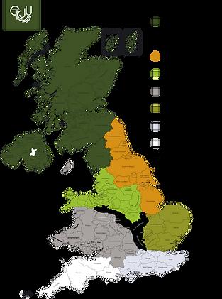 UK sales team map