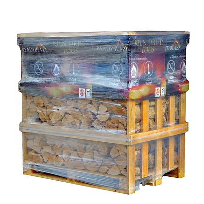 KILN DRIED BIRCH LOGS 1 CUBIC METRE (390KG) CRATE